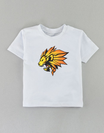Футболка Овер белая  LION