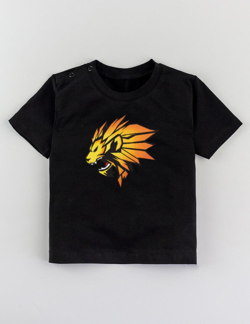 Футболка Овер черная LION