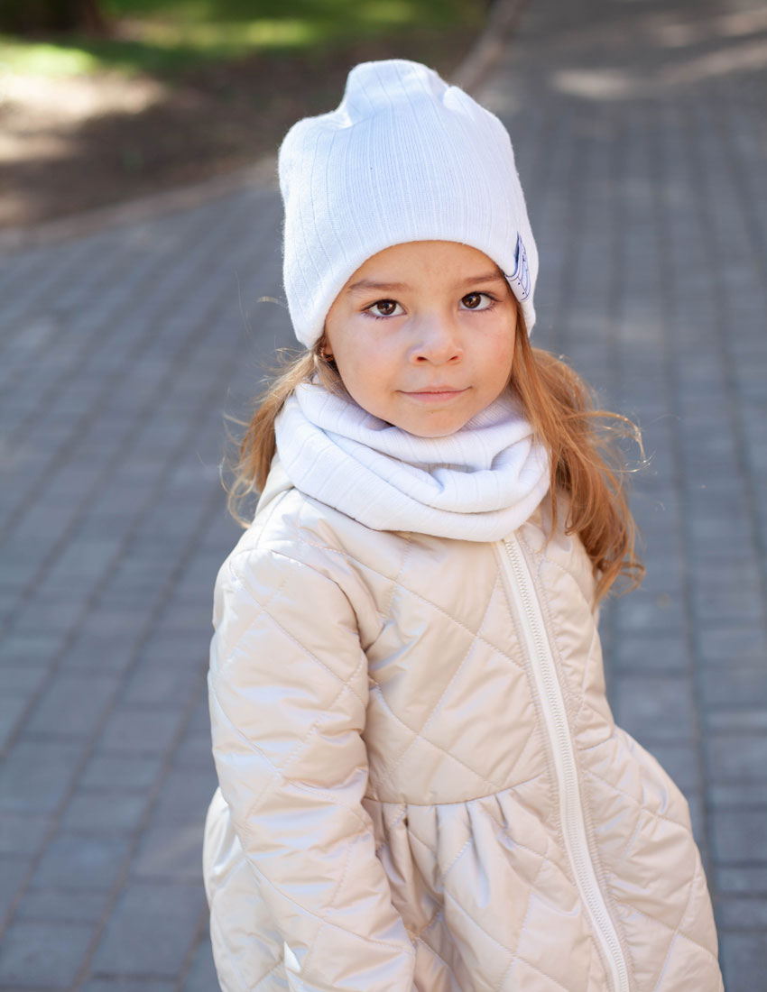 Куртка Делфи молочная