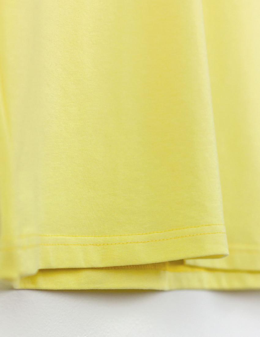 Футболка Овер лимонная 100% счастья