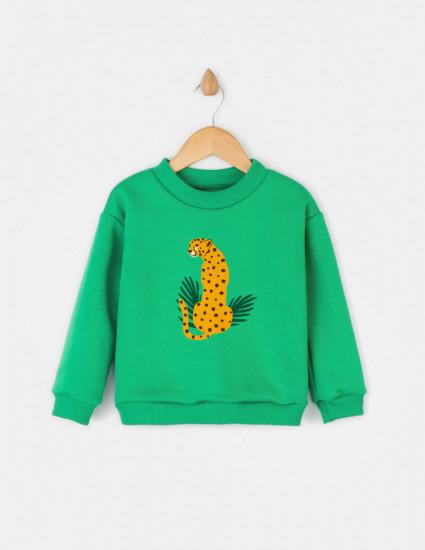 Свитшот Джойс зелёный Леопард