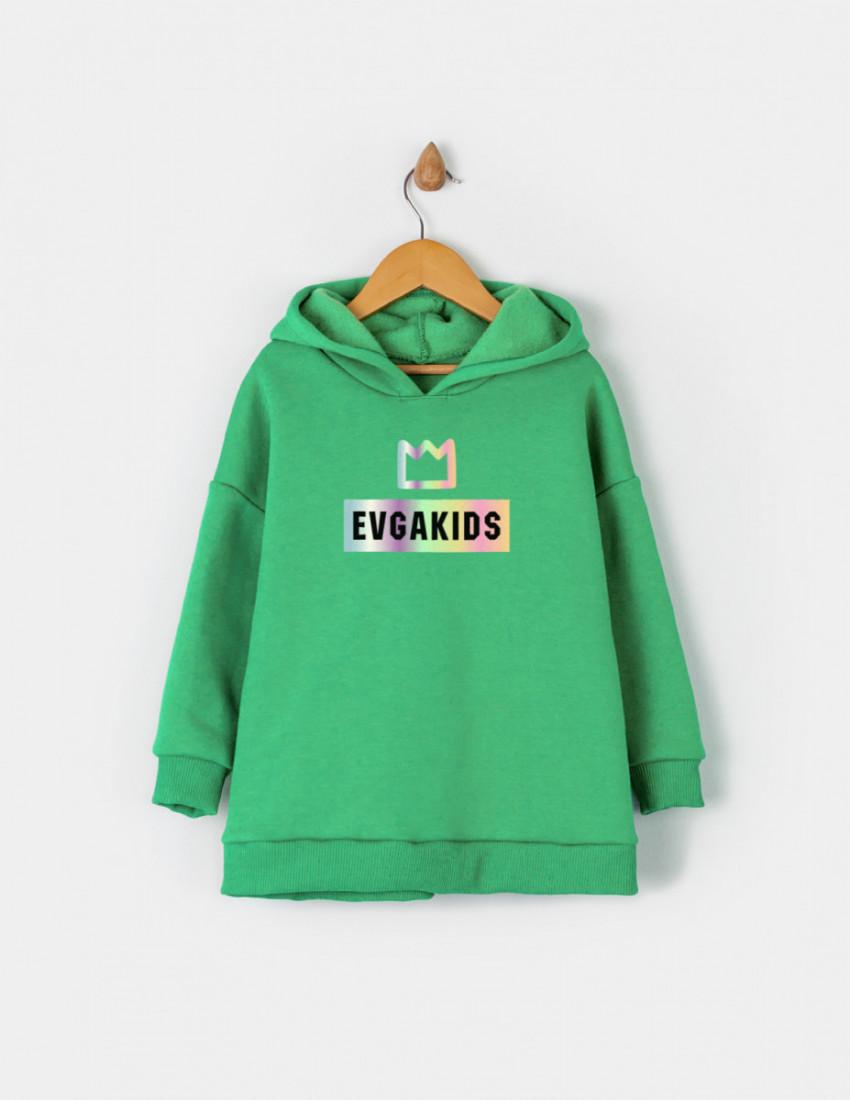 Костюм Белами зелёный Evgakids c коронкой