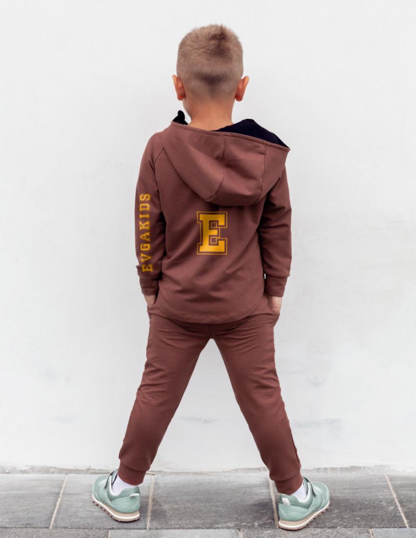 Костюм Дилан коричневый Evgakids sporty Neon