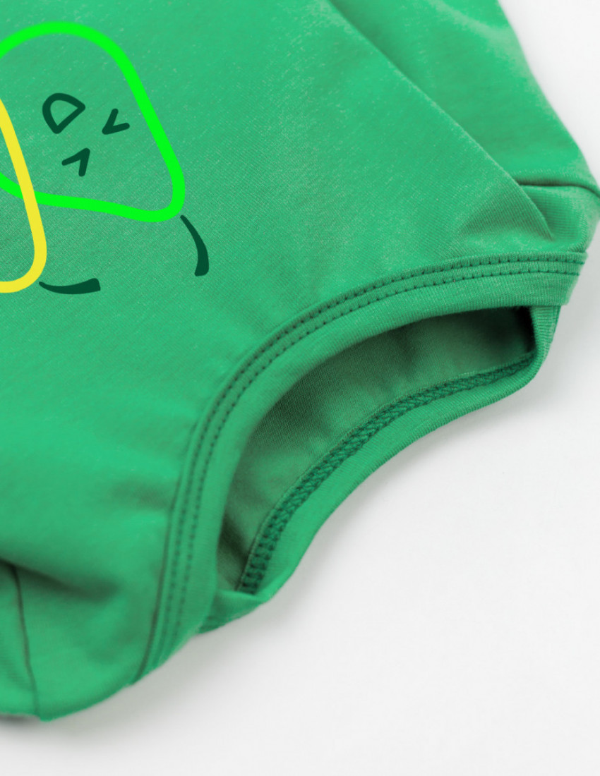 Боди с длинным рукавом зелёный Веселий малий
