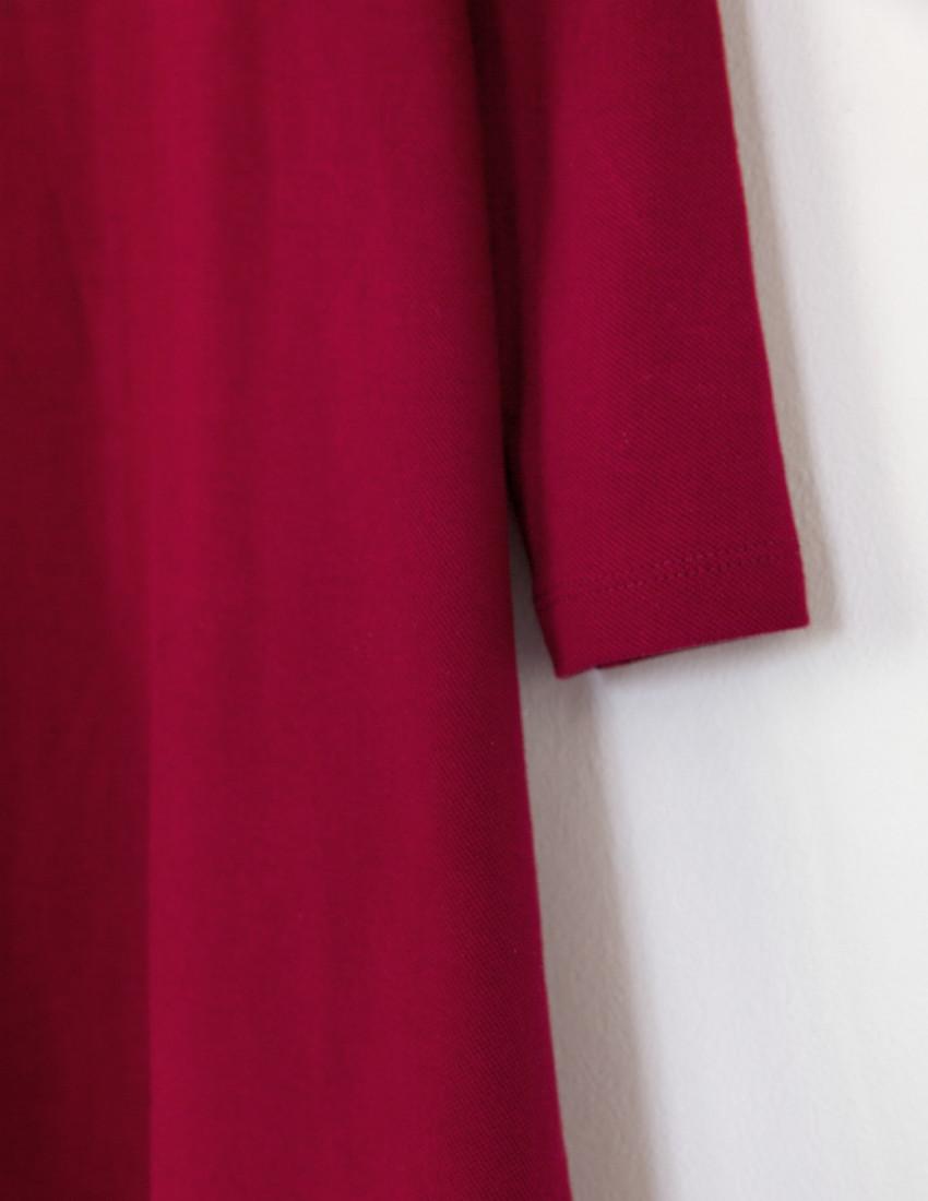 Платье Клеона бордовое Evgakids c коронкой