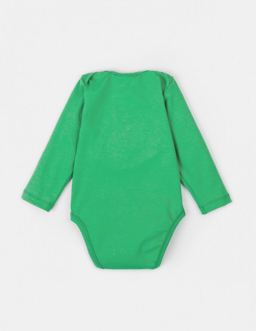 Боди с длинным рукавом зелёный LEO NAME