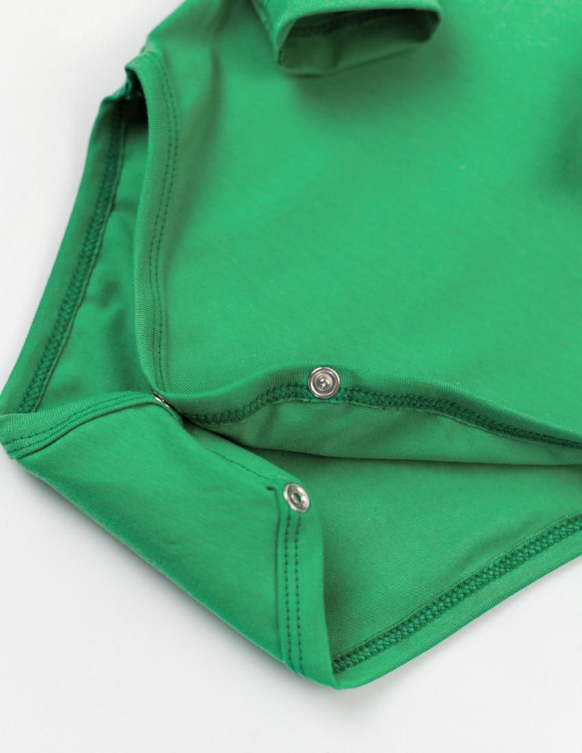 Боди с длинным рукавом зелёный ХОЧУ И ОРУ!