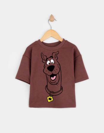 Свитшот с укороченным рукавом Джимми коричневый Smile dog