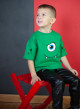 Свитшот с укороченным рукавом Джимми зелёный BAD MONSTER