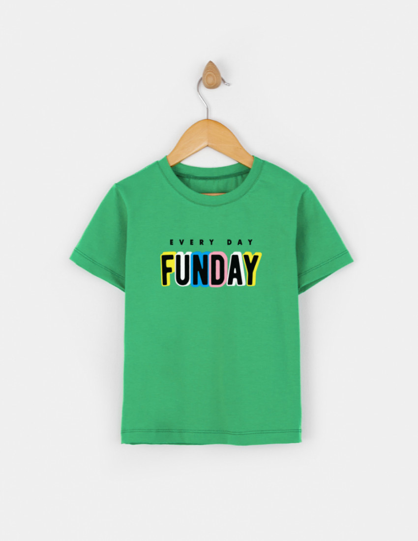 Футболка Овер зелёная FUNDAY