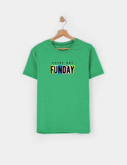 Футболка Овер для взрослого зелёная FUNDAY