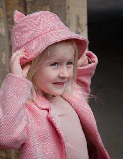 Панамка Берта розовая
