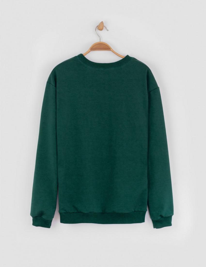 Джемпер Франт мужской тёмно-зелёный MY DAY IS PERFECT