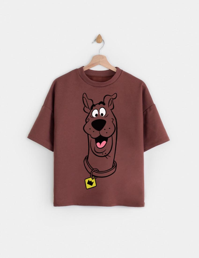 Свитшот с укороченным рукавом Джимми женский коричневый Smile dog