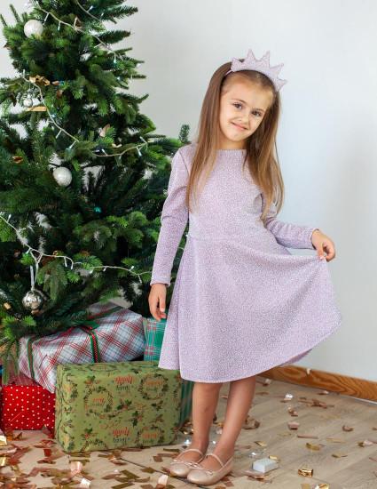 Платье Серена лилово-белое