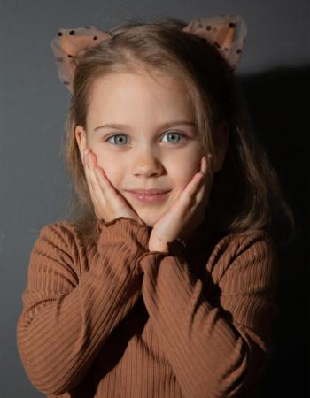 Аксессуар-ушки Лавли коричневые в горох