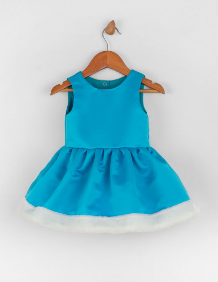 Платье Снегурочка бирюзовое